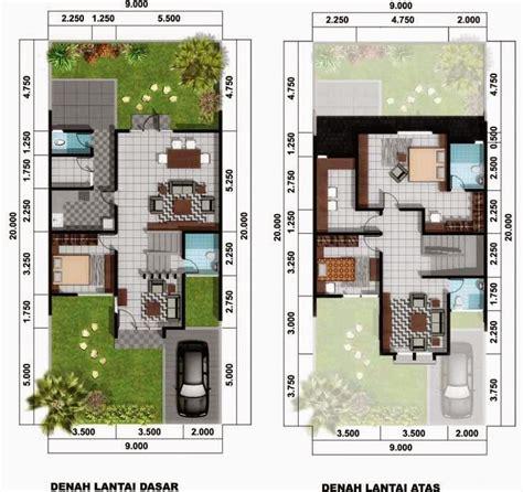 desain rumah minimalis  lantai luas tanah  meter