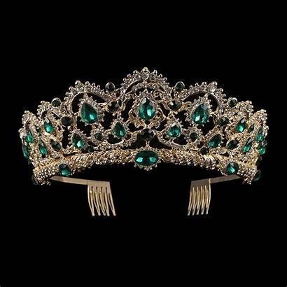 Crowns Tiaras Gold Tiara European Crystal Drop