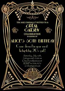 party invitation templates great gatsby party invitations With the great gatsby invitation template