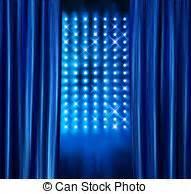 Rideaux Velours Bleu : illustration de stock de bleu rideaux velours projecteurs cin ma bleu annonce ~ Teatrodelosmanantiales.com Idées de Décoration