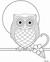 Owl Coloring Embroidery Printable Owls Pages Pattern Sheets Sheet Sized Version Colouring Template Mandala Colour Patterns Printables Adults Designs Paste sketch template