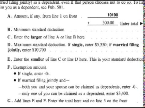 How To Complete A 1040ez Tax Form  How To File A 1040ez Dependents Worksheet Wedding Flowers