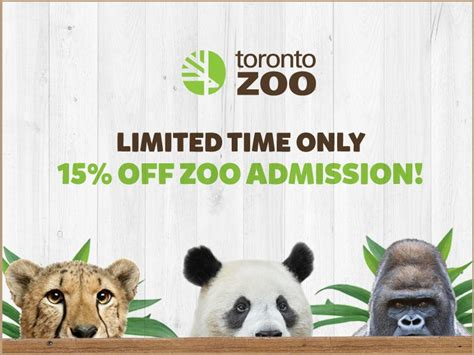 zoo toronto code promo canada admission receive offers flyers coupons