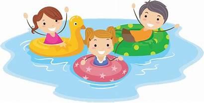 Swimming Cartoon Pool Clipart Clip Child Swim