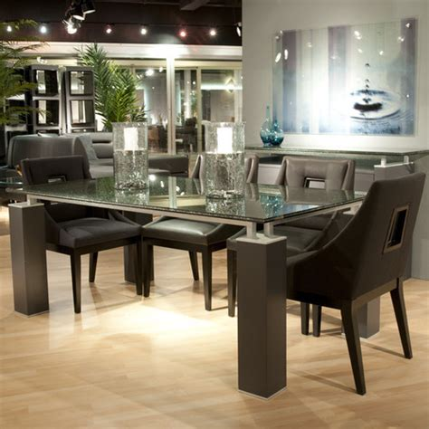 crackle glass table l tiffany dining table with crackle glass modern dining