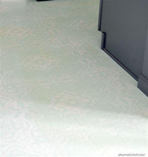 linoleum flooring uses diy painted and stenciled linoleum floor hometalk