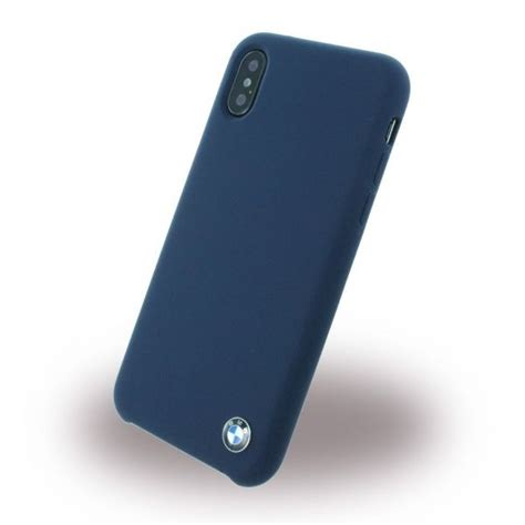 Capa Silicone Bmw Signature Apple Iphone Blue