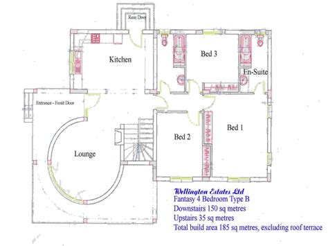 residential blueprints 4 bedroom bungalow floor plan residential house plans 4