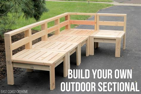 build  outdoor sectional knock