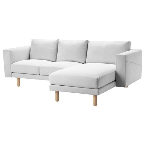 norsborg two seat sofa with chaise longue finnsta white birch ikea