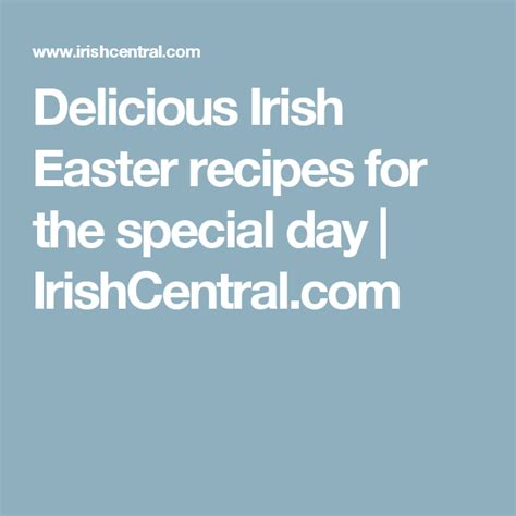 Easter sunday and monday are both holidays in ireland. Delicious Irish recipes for Easter Day (With images)   Irish recipes, Easter recipes, Easter ...