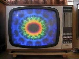 Telefunken Color Tv Set From 1967 With Ard Color Logo