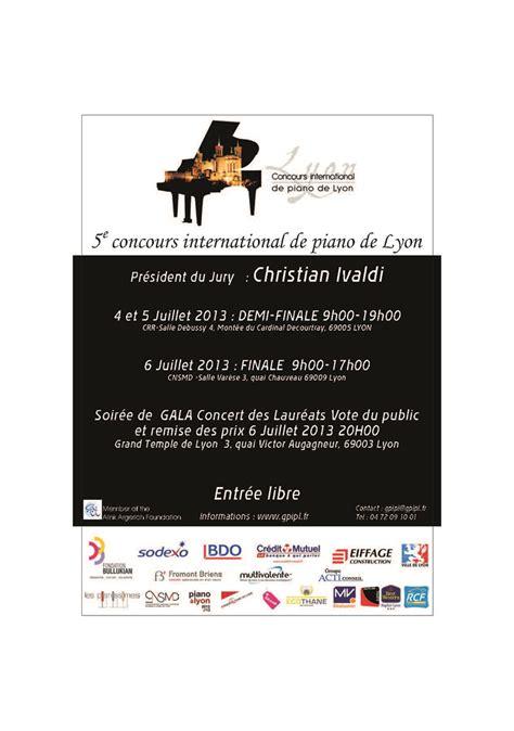 concours international de musique de chambre de lyon musique à lyon le concours international de piano se