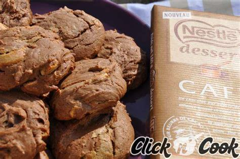 recette cookies nestle dessert cookies au chocolat et aux p 233 pites de chocolat caf 233 nestl 233