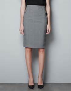 lilly pulitzer stores zara checked pencil skirt in gray lyst
