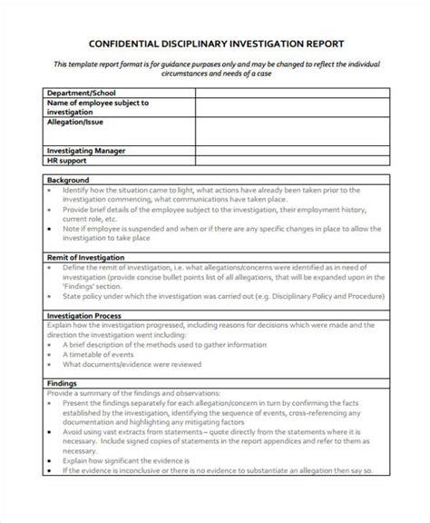 investigation report template 12 investigation report templates free sle exle format downlaod free premium templates