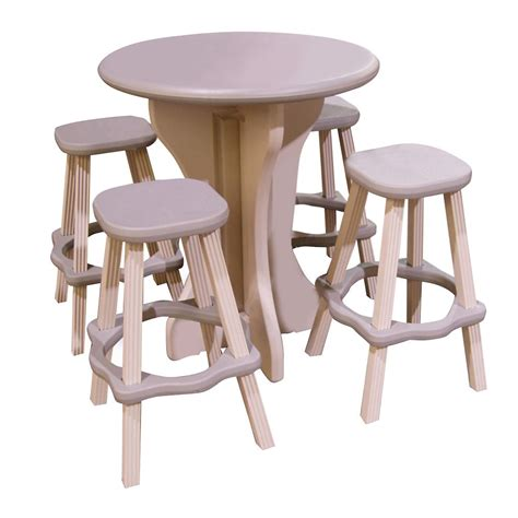 leisure accents 5 bistro table and bar stools