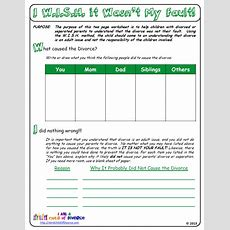 Was My Parents' Divorce My Fault? This Worksheet For Children Of Divorce Helps Them To Work
