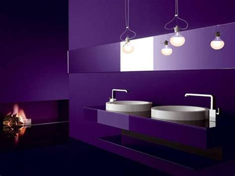 black white purple bathroom violeta al morado decorar net 17440