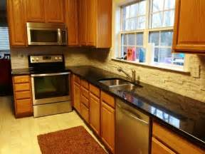 Black Kitchen Cabinets with Granite Countertops Blue Pearl
