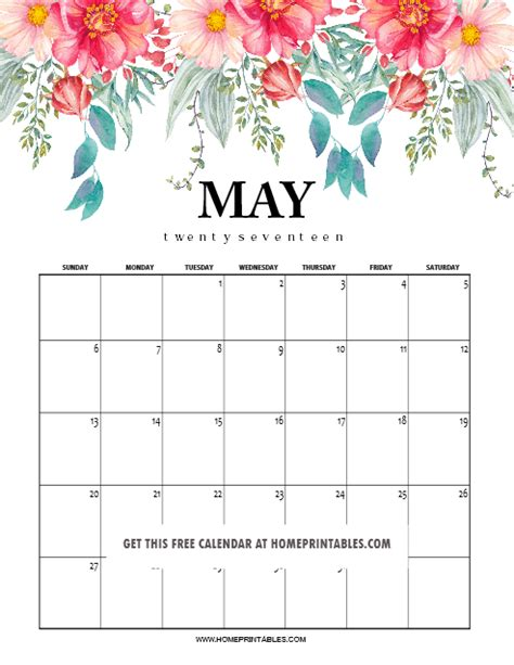 calendar printable home printables