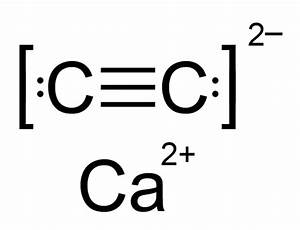 What Is The Dot Structure Of Calcium Carbide