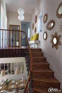 les 25 meilleures idees de la categorie miroirs sur With quelle couleur pour une cage d escalier sombre 11 decoration couloir entree maison