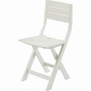 Chaise De Jardin En Resine : chaise de jardin en r sine inject e gilda blanc leroy merlin ~ Farleysfitness.com Idées de Décoration