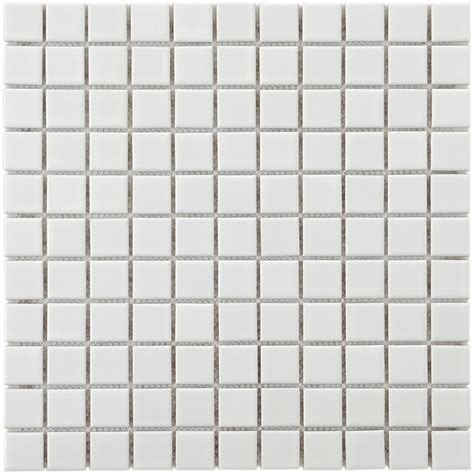white mosaic tile merola tile metro square glossy white 11 3 4 in x 11 3 4 in x 5 mm porcelain mosaic tile 9 8