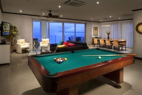 pool table in living room spectacular ocean front 4 bedroom penthouse homeaway jaco