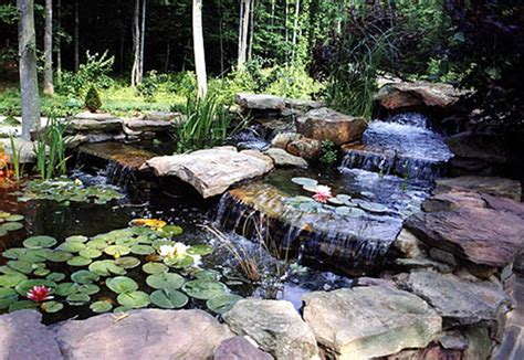 pond  waterfall installation  fairfax station va
