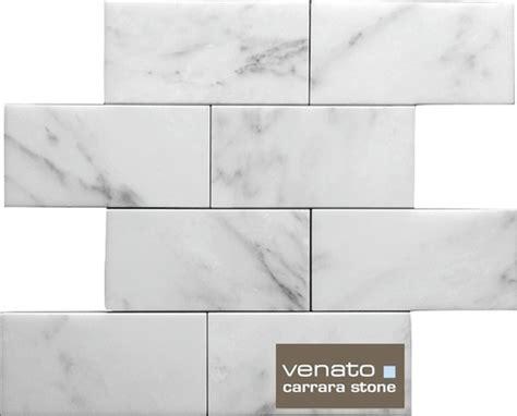 7sf carrara subway tile marble 3x6 quot
