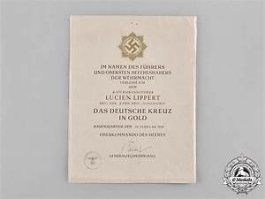 germany ss a rare heer german cross in gold award With documents 5 ss