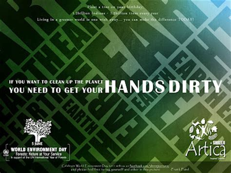 hands dirty environment quote