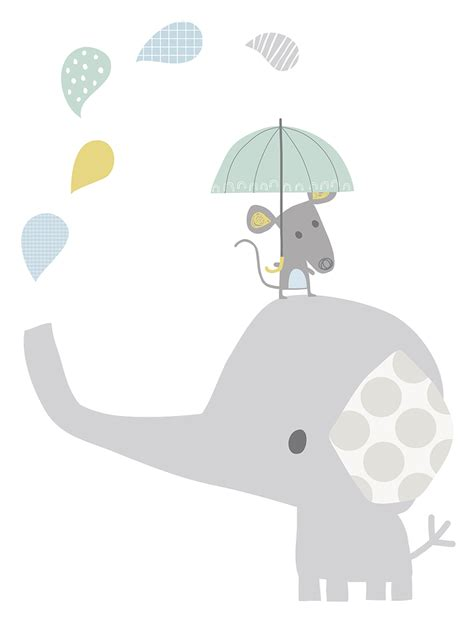 poster babyzimmer lilipinso xl wandtattoo 39 elefant maus 39 grau pastell 75cm bei fantasyroom kaufen