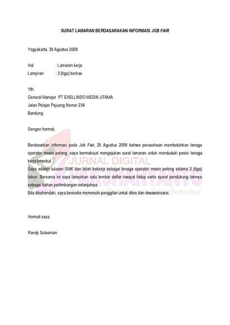 Surat Lamaran Kerja Dalam Bahasa Inggris Contoh Lamaran Kerja Dan Cv