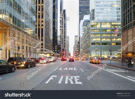 Twilight Downtown New York City Usa Stock Photo 134891657