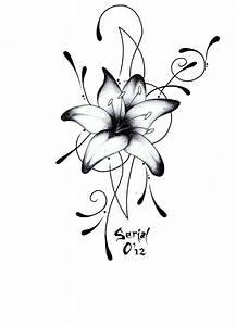 lys tribal tatouages dessin fleur expoimages com chainimage With chambre bébé design avec fleur lys