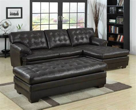 Leather Loveseat With Chaise by Luxurious Bonded Leather Brown Sofa Chaise Sectional Set