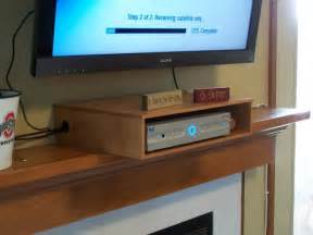 Wood Cable Box Shelf Under TV