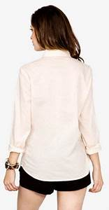Forever 21 Long Sleeve Button Down Shirt in Pink (peach ...