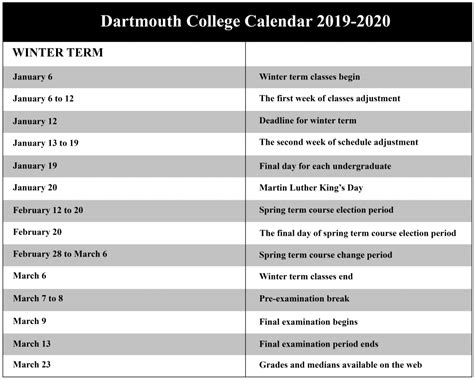 dartmouth college academic calendar nyc school calendar