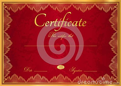 red diploma certificate background  border stock