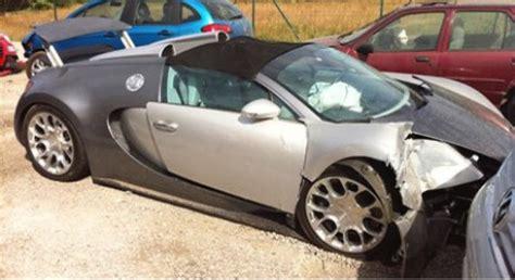 bugatti crash for sale bugatti veyron grand sport no 001 wrecked in crash