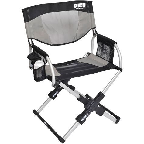 gci outdoor pico telescoping arm director s chair sage 18020
