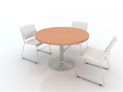 table de r 233 union ronde 4 places epure pied central