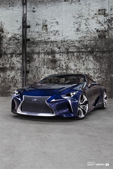 Lexus Lflc Concept (blue)  Five Axis