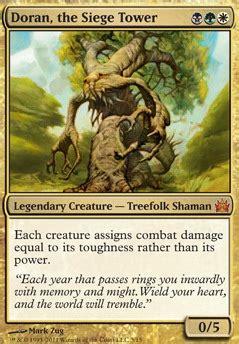 Mtg Treefolk Deck Edh by Doran The Siege Tower Mtg Card