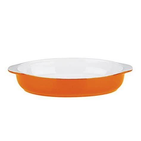 mario batali  dansk  stoneware   oval au gratin large persimmon mario batali