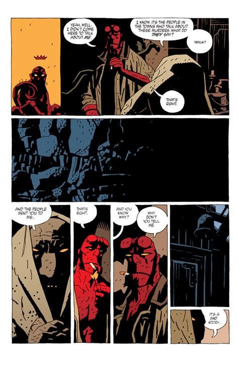 hellboy volume   troll witch   tpb